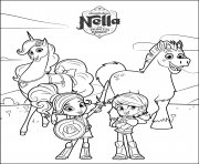 nella the princess knight coloring www coloring pages